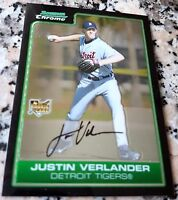 JUSTIN VERLANDER 2006 Bowman Chrome Rookie Card RC Triple Crown Winner Astros