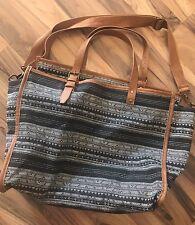 Mossimo Women's Black Aztec Print Cotton Bag Crossbody Large New Tote Purse