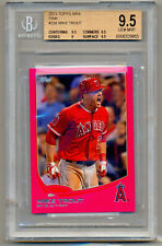 2013 Topps MIKE TROUT Pink Mini 18/25 Rookie of the Year #338 BGS 9.5 INSANE !!!