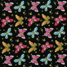 RJR Lori's Art Garden by Lori Gardner Woods 3245 002 Black Butterflies COTTON