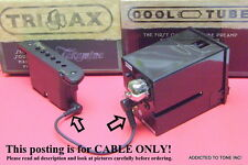 Takamine TriAx Pickup to CTP-3 CTP-2, CTP-1 PreAmp Connect Cable Hard To Find !