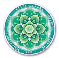 Etiqueta engomada de la ventana de Artes Mandala doble cara: Chakra del corazón 11.7 Cm