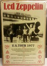 Led Zeppelin Us Tour 1977 Vintage Retro Tin Metal Sign Plaque Home Decor Studio