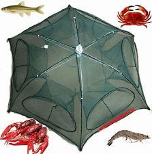 Trap Cast Dip Cage Foldable Fishing Bait Net Crab Fish Minnow Crawdad Shrimp