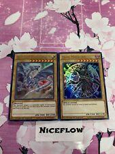 Blue Eyes White Dragon + Dark Magician Ultra Rare 2 Card YUGIOH MVP-ENS55 Gift