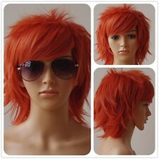 Fashion Multi Color Men Boy Short Straight Hair Wig Anime Party Cosplay Wigs #++