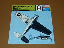 GRUMMAN F6F-3 HELLCAT 1942-1945 US AIR FORCE AVIATION FICHE WW2 39-45