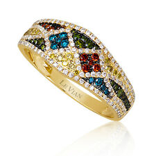 Le Vian® Ring featuring Red/Green/White/Fancy Diamonds - 14K Honey Gold™