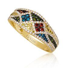 Le vian ® кольцо с изображением красный/зеленый/белый/Fancy Diamonds - 14K мед золото ™