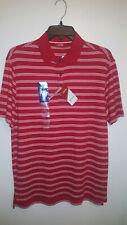 IZOD HERITAGE INTERL MEN'S SHORT SLEEVE POLO SHIRT SIZE SMALL COLOR RED NWT $48