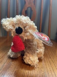 Ty Lovesme The Dog With Heart Beanie Baby Ty Store Exclusive Mint With Mint Tags