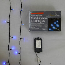Super-Long 20m Battery Powered Multi-Function 200 LED Electric Blue Lights