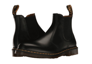 Women's Shoes Dr. Martens 2976 YELLOW STITCH Leather Chelsea Boot 22227001 BLACK