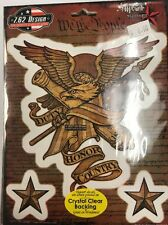"""New Military """"Duty Honor Country"""" Sticker / Decal Army Navy Marines Air Force"""