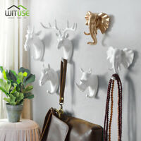 Novel Animal Head Hook Hot Wall Mount Coat Hat Jacket Handbag Holder Hanger E7C