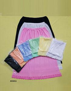 Black White Underskirts Cotton Rich Half slips waist slips size 4-16 petticoat