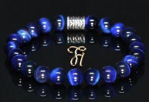 Tigerauge Armband Bracelet Perlenarmband blau 8mm