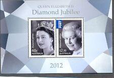 Australia-2012 Jubilee min sheet nnh-Queen-Royalty