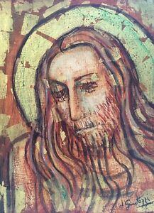 Jesus Cristo GIUSTOZZI, Julio (Argentinian 1912-1996) Painting Signed Dated 1970