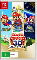 Super Mario 64 Sunshine Galaxy 3D All Stars Trilogy Nintendo Switch 3-In-1 Game
