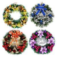 UK Wreath Window Christmas Door Decoration Hanging Ornament Tree Garland Bell