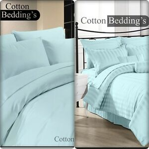 600 / 800 / 1000 THREAD COUNT 100%EGYPTIAN COTTON Duvet Cover Set / Fitted Sheet