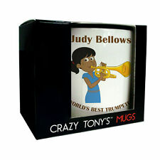 Girls Trumpeter Gifts, Ladies Trumpeter Mug, Crazy Tony's, Ladies Musician Gifts
