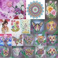 5D DIY Special Shaped Diamond Painting Flower Cross Stitch Mosaic Kit Decor