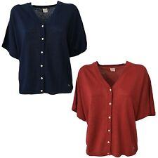 Cardigan Women short Sleeve Des Petits Hauts Mod. Boudy 100% Linen