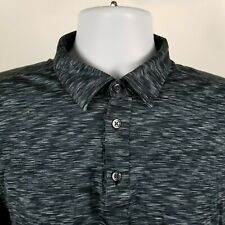 Culturata Tailored Fit Mens Green Blue Geometric Adult Polo Shirt Xl Italy Made