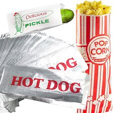 Classic Look Pickle, Hot Dog and Popcorn Bags 100 Pack by Avant Grub. Turn.