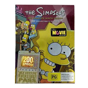 THE SIMPSONS SEASON 9 BOX SET DVD Rare PAL Complete with Souvenir programs