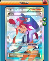 DIGITAL Skyla Full Art pokemon tcg online