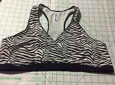NEW  GILLIGAN ONALLEY SIZE S  Zebra Print Black & White NURSING Bra