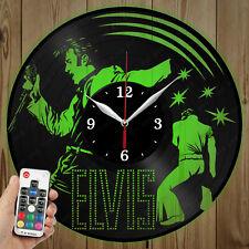 LED Vinyl Clock Elvis LED Wall Art Decor Clock Original Gift 3881