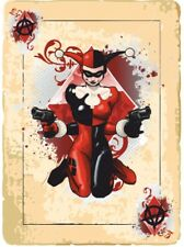 2 x HARLEY QUINN CARD ACE Adesivo Decalcomania MOTO CASCO BOARDS iPad SERBATOIO BATMAN