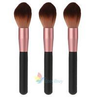 Pro Makeup Soft Kabuki Contour Face Powder Foundation Blush Brush Bronzer Wood#A
