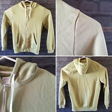 mens primark khaki green hooded zip up jacket size l casual