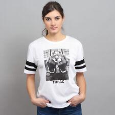 Urban Classics Ladies 2Pac Stripes Tee weiß S, Weiß, MT363