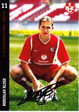 Miroslav Klose Kaiserslautern Werder Bremen Rom Bayern München DFB Deutschland