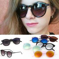 Vintage Men Women Sunglasses Hippie Retro Round UV400 Eyeglasses Glasses Eyewear
