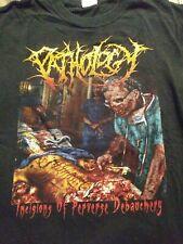 S 2008 PATHOLOGY Death Metal Shirt Vintage nile vader obituary deicide