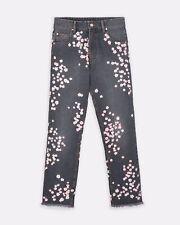 ISABEL MARANT Designer Runway Floral Embroidered Jeans