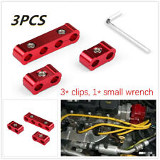 3*Clips Spark Plug Wire Separator Red Aluminum Engine  Divider Organizer Clamps
