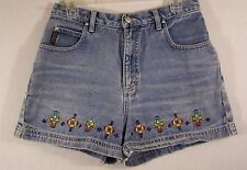 No Excuses Womens Denim Shorts Embroidered Size 11/12