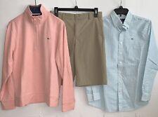 lot VINEYARD VINES boys shorts 1/4 zip plaid dress shirt sz 16