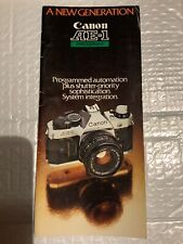 Canon AE-1 Program 35mm Camera Original Printed Brochure Free Shipping