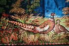 """Vintage Pheasant Tapestry Colorful Made In Italy 39"""" x 19 1/2"""""""