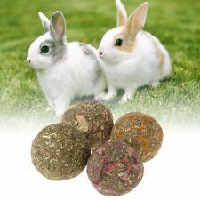 2pcs Pet Hamster Chew Teeth Ball Natural Grass Play Toys For Rabbit Chinchilla