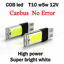 2 X WHITE T10 CAR & BIKE COB LED PAIR W5W PARKING LICENCE PLATE ROOF LED